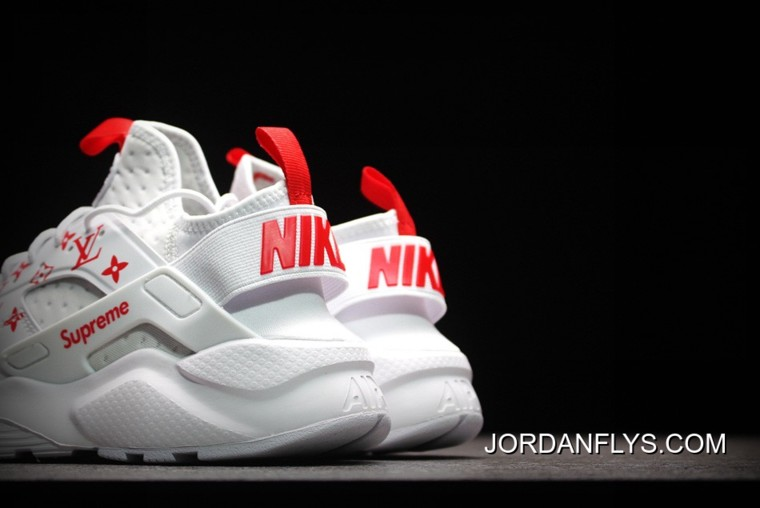 afb3d5d72f29 For Sale Supreme X Nike Air Huarache Run Ultra White Red Men s And Women s  Size 819685