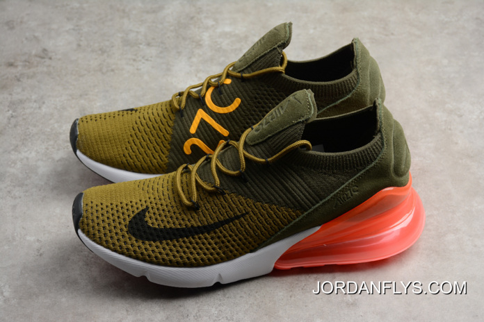 san francisco d8c66 7ccc7 Mens And WMNS Nike Air Max 270 Flyknit Army Green/Dark Green/Black/Red Best