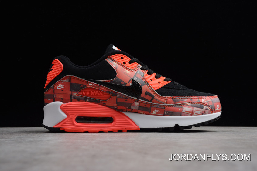 """best loved e7ee7 6f188 Women Men Authentic Atmos X Nike Air Max 90 Print """"We Love Nike"""""""