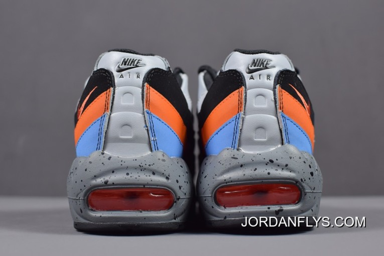 the latest 3ff4c 40a00 New Release Nike Air Max 95 Premium Wolf Grey/Safety Orange Men's Size  538416-015