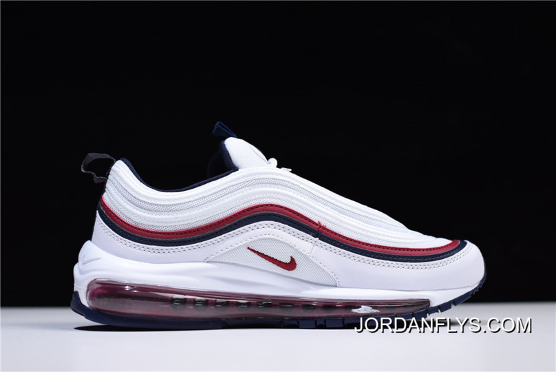 e0d05d49be Nike Air Max 97 White/Red Crush-Blackened Blue 921733-102 Free Shipping
