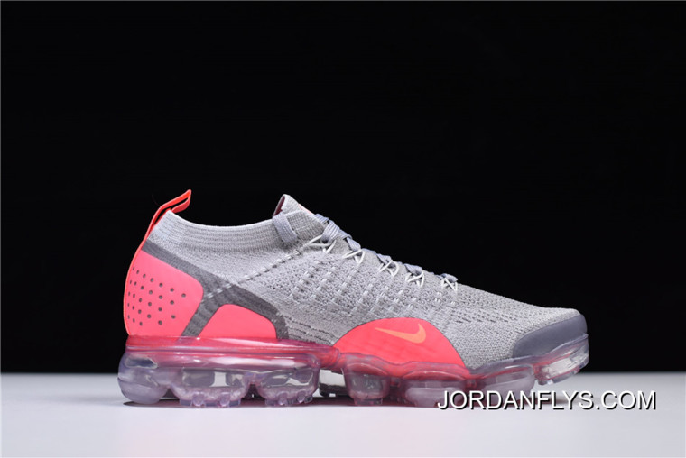 c5b9ad3fa6 New Style Women's Nike Air VaporMax Flyknit 2 Atmosphere Grey/Crimson Pulse  942843-005