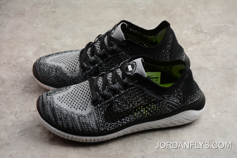 ea37f33d8069 ... get nike free run flyknit 2018 white black mens running shoes 942838  101 new style f6f7e