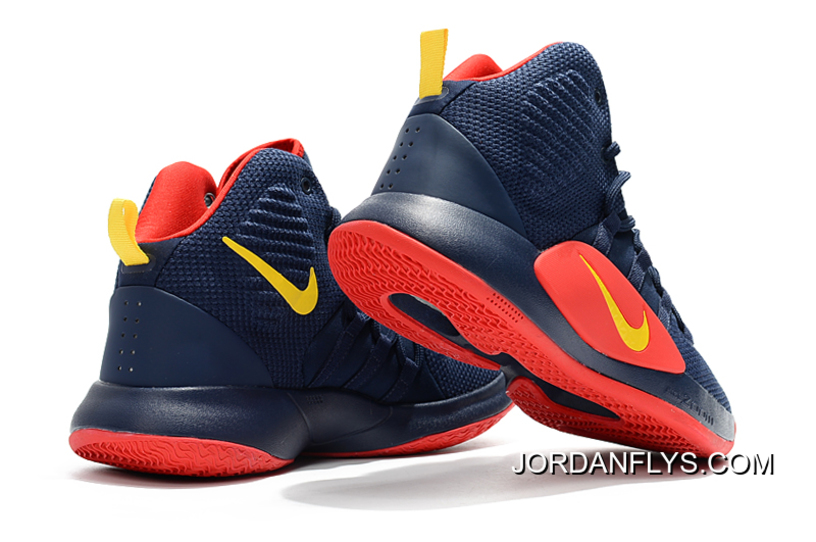 buy popular 29610 f34f2 Big Discount Men s Nike Hyperdunk X Navy Blue Red-Yellow Basketball Shoes