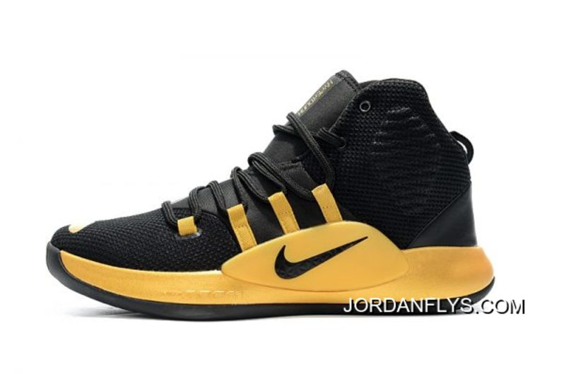 promo code 2d3c6 1cdcc Big Discount New Nike Hyperdunk X Black Gold Men s Basketball Shoes