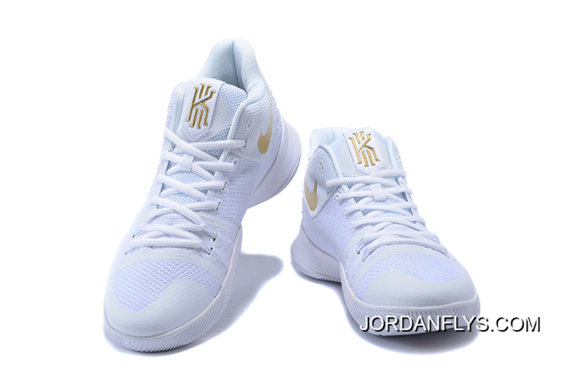 "pretty nice 5e872 c6e5a Men's Nike Kyrie 3 ""Christmas"" PE White/Metallic Gold 852396-902 Discount"