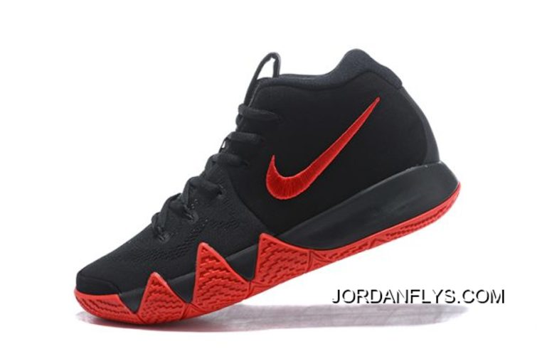 premium selection f7022 33bb9 Nike Kyrie 4 Black Red Men's Size Basketball Shoes Online