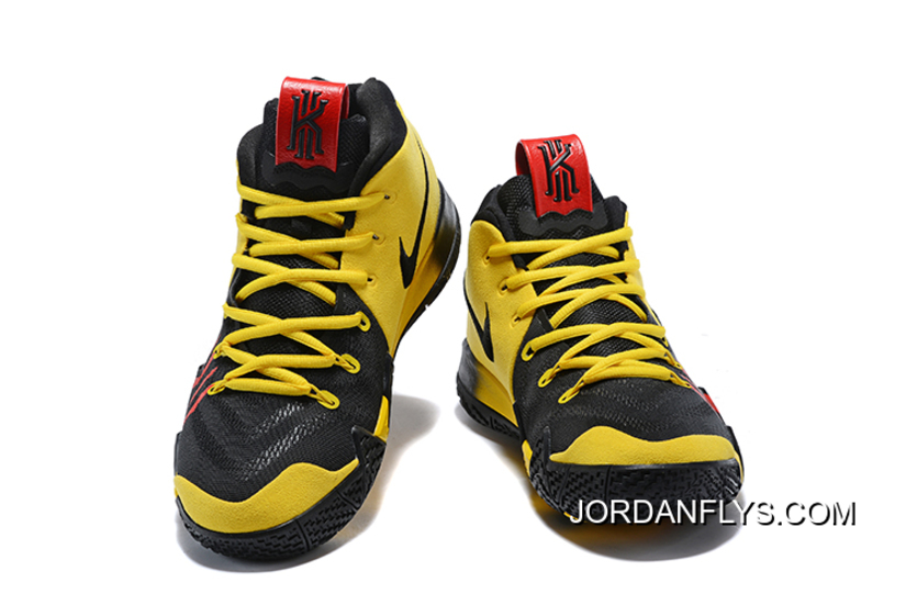 """dac33fd0acc Nike Kyrie 4 Mamba Mentality """"Bruce Lee"""" Tour Yellow Black New Year Deals"""