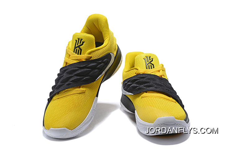 b25094cfccc8 Nike Kyrie 4 Low Amarillo Black-White AO8979-700 Sale Free Shipping ...
