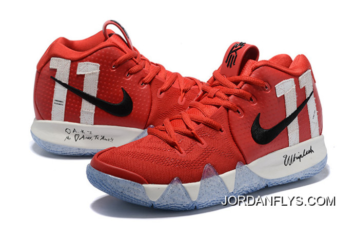"""511bf59a2c0 Super Deals Nike Kyrie 4 """"11"""" University Red Black-White"""