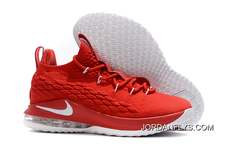 c841b8c23e20 Nike LeBron 15 Low University Red White Men s Basketball Shoes Top Deals