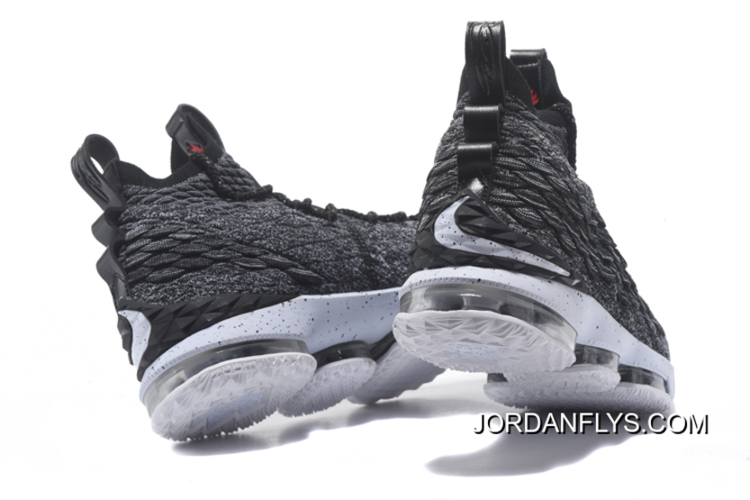 "b46ee34f3c5d Big Discount Nike LeBron 15 ""Ashes"" Black White Men s Basketball Shoes  897648-"