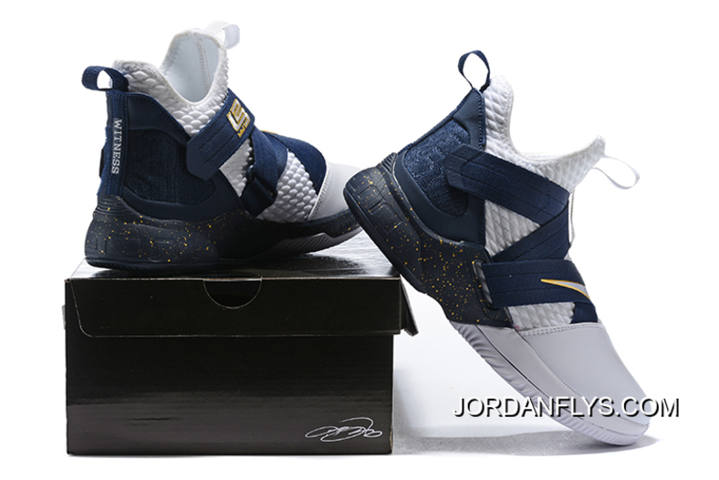 a33fd3b870bfa Free Shipping Nike LeBron Soldier 12 XII SFG White/Midnight Navy-Mineral  Yellow Basketball