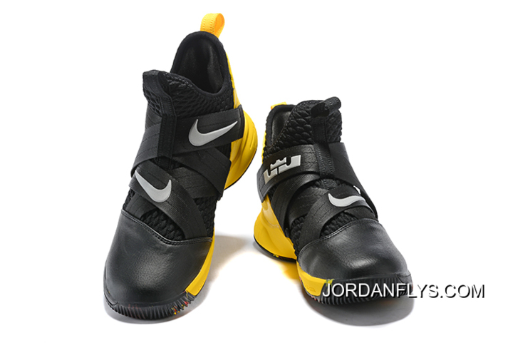 8d5311ce7b0 Where To Buy Nike LeBron Soldier 12 Black Yellow Men s Basketball Shoes