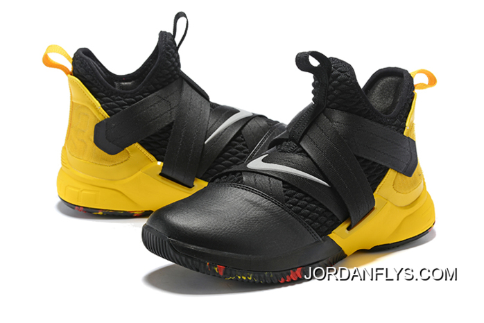 e39c9ab76fe Where To Buy Nike LeBron Soldier 12 Black Yellow Men s Basketball Shoes