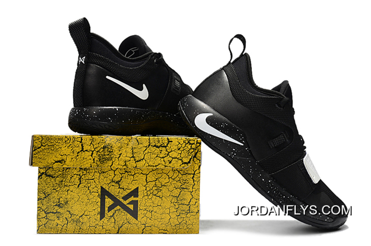 New Nike PG 2.5 Black White Paul George Shoes Free Shipping New Style 1385b7991