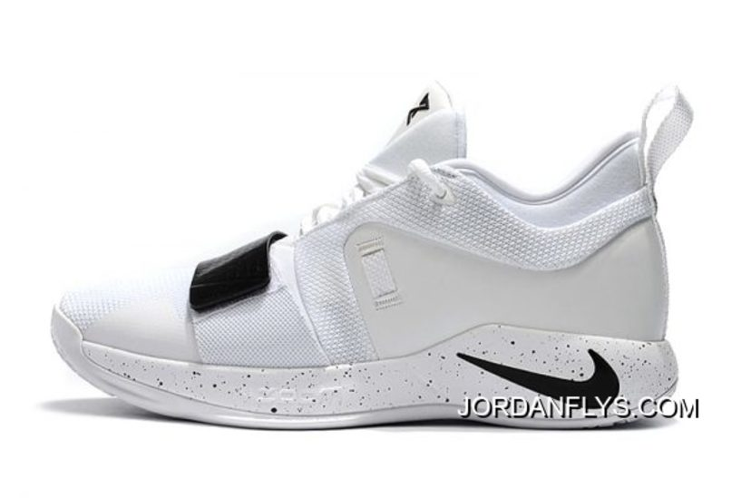 0447d23882b Nike PG 2.5 White Black Paul George Basketball Shoes For Sale