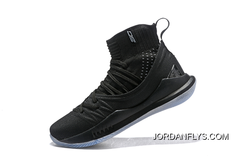 "f6fef4e90 Under Armour Curry 5 ""Black Ice"" High Top Men's Basketball Shoes Big  Discount"