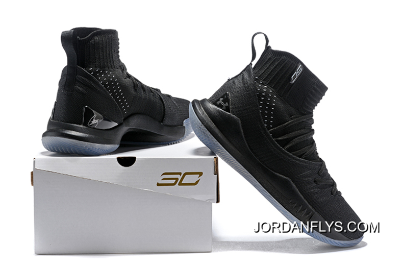 """hot sale online 7d930 39402 Under Armour Curry 5 """"Black Ice"""" High Top Men's Basketball Shoes Big  Discount"""