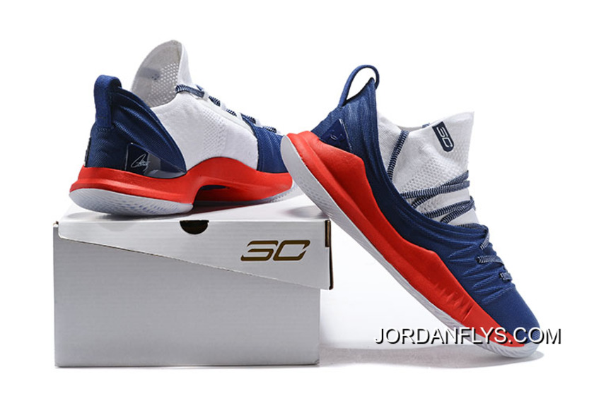 29403419601a Online Men s Under Armour Curry 5 Low Navy Blue Red-White Steph Curry  Basketball